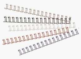 Drahtbinderücken, 3:1-Tlg., 8 mm, weiß, , VE 100 Stück